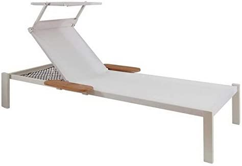 Emu soleil toit Shine pour chaise longue Shine Blanc mat
