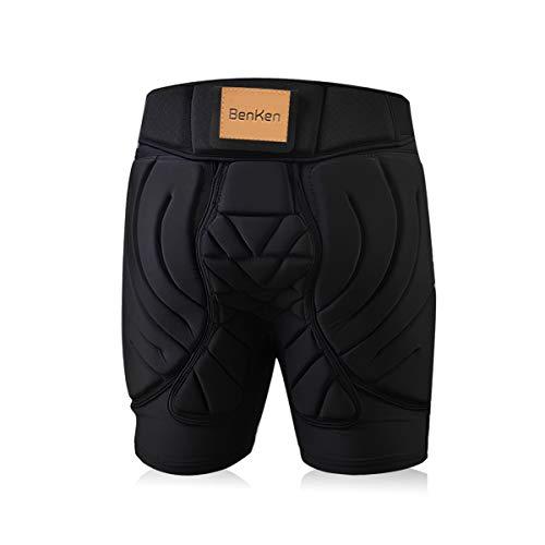 BenKen Ski Butt Pants Hip Protection Butt Guard for Skateboarding Skiing Riding Cycling (Black XL)