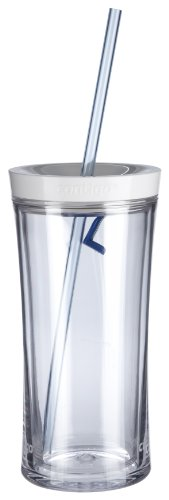 (Contigo AUTOCLOSE Shake & Go Double-Wall Tumbler, 16 oz, Clear)