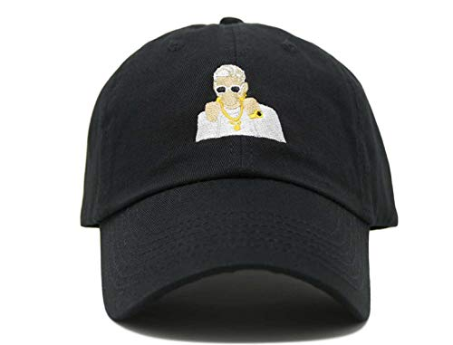 Praying Rabbit Reggaeton Character Embroidered Dad Hat
