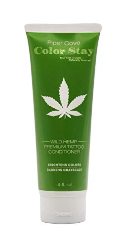 PREMIUM TATTOO AFTERCARE LOTION COLOR STAY - Conditioner Moisturizer, Organic Shea, Cocoa and Mango Butters and Hempseed Oil, 4 oz. (Wild Hemp) - Piper Cove