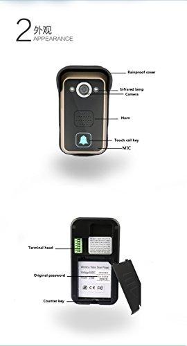 WiFi Wireless Video Intercom Doorbell Wireless Doorbell Mobile Phone APP Remote Control Unlock Remote Monitoring by JIA (Image #8)