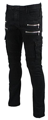 Zipper Denim Men Jeans - 9