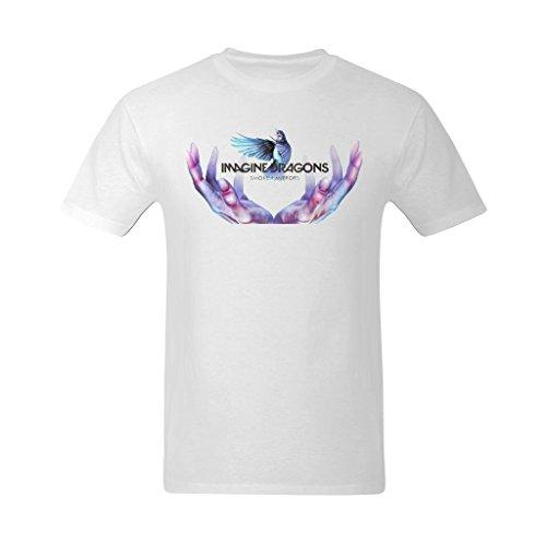 Flesiciate Men Image Dragon Smoke Mirrors Design Size Medium Tee Shirts
