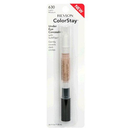 Revlon ColorStay Under Eye Concealer with SoftFlex, Light/Medium 630, 0.04 Ounces (Pack of 2)