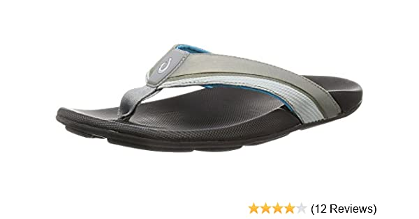f1b7ad019dbd Olukai Men s Halu A Sandals Trench Blue Black