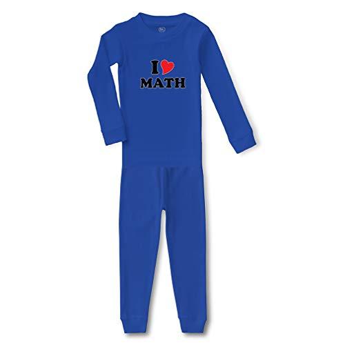 I Heart Math Cotton Crewneck Boys-Girls Infant Long Sleeve Sleepwear Pajama 2 Pcs Set Top and Pant - Royal Blue, 5/6T ()