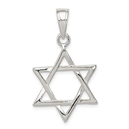 - 925 Sterling Silver Star of David Charm and Pendant