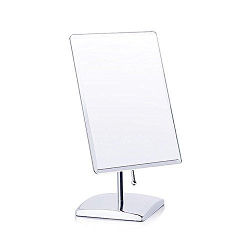 shamrock58 Cosmetic Mirror Makeup Mirror Single-Sided Square Table Mirror Gift Mirror Desktop One-Way Mirror (Silver)