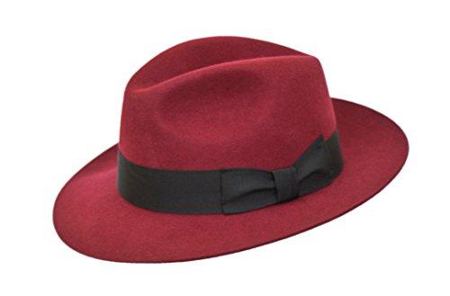 Men's Chapeau Fedora feutre de laine Marron