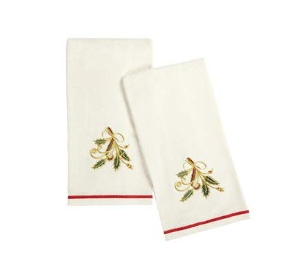 (Lenox Holiday Nouveau Kitchen Towels - Set of 2 (Embroidered)
