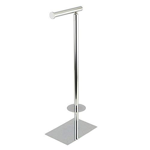 (Kingston Brass CC8001 Claremont Freestanding Toilet Paper Stand, Polished Chrome)
