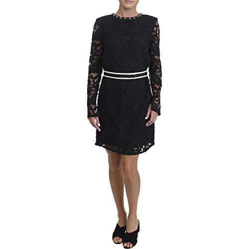 Juicy Couture Women's Stevie Lace Dress w/Embroidery Pitch Black 4 by Juicy Couture