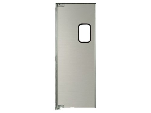 Strip-Curtains.com: Aluminum Swing Door - 36 in. (3 ft) width X 84 in. (7 ft) height - Single Panel - E Hinge Type