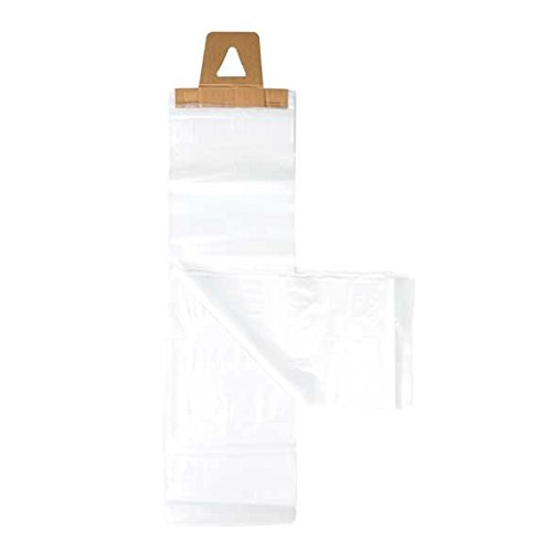 ClearBags 6 x 19 Newspaper Bags | Clear Plastic Poly Bags for Newspapers | Cardboard Header Perforated Easy Tear off Design | Protect Against Rain Weather Bugs | .8 Mil LDPE | NPB2 (Pack of - Bags Ldpe Plastic