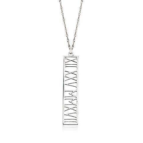 Ross-Simons Roman Numeral Personalized Date Necklace