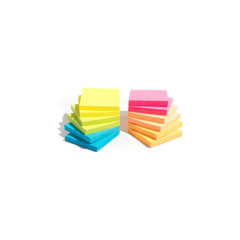 Infiniko Sticky Notes 3x3, 12 Pads 1200