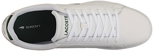 Lacoste Men's Carnaby Evo S216 2 Casual Shoe Fashion Sneaker, White/Green, 13 M US