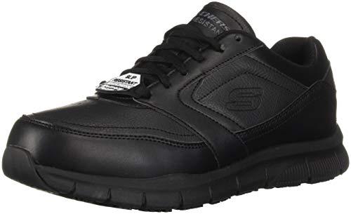 Skechers for Work Men's Nampa Food Service Shoe,black polyurethane,9.5 W US