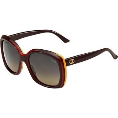 Gucci GG3612/S Sunglasses-07EH Brown Red Yellow (R4 Gray Green Grad - And Glasses Gucci Green Red