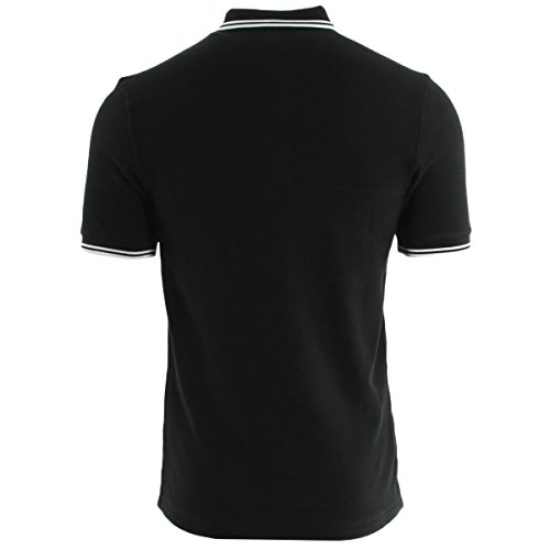 Fred Perry Hounstooth Pique Shirt Black, Polo