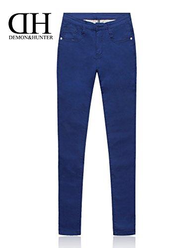 822 Hausse Séries Femmes Jeans Dh8022u Demon amp;hunter Courbe Maigre Bleu X Demi R34ALj5