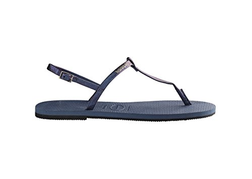 Femme Havaianas Ouvert Bout Sandales Blue Indigo You Metallic wxxXqC8Az