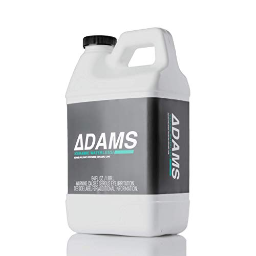 Adam's Ceramic Waterless Wash - Clean & Boost The Ceramic Nano Paint Protection of Boat, RV, Truck & Motorcycle - Hydrophobic Top Coat Cleaner & Sealant to Extend The Life of Ceramic Coatings (64 oz)