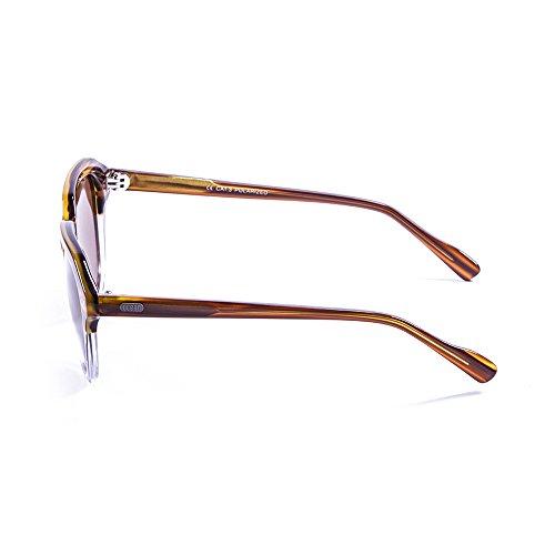 Ocean Sunglasses Mavericks Lunettes de Soleil Mixte Adulte, Demy Brown Light/White Transparent Down/Brown Lens