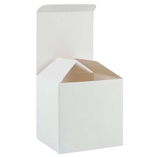 RUSPEPA Recycled Cardboard Gift Boxes - Small Square Gift Boxes with Lids for Party and Crafts - 3