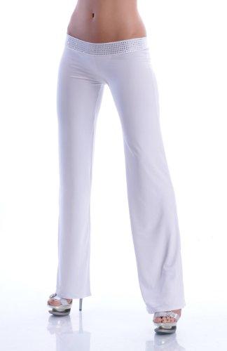 Annsfashion - Pantalón - para mujer Weiß