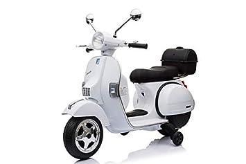 ATAA Vespa clásica Oficial 12v Licencia Piaggio - Blanco Moto eléctrica para niños hasta 7 años. Batería 12v Coche electrico niños: Amazon.es: Juguetes y ...