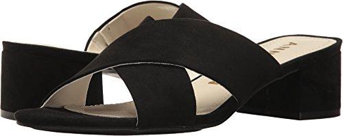 Anne Klein Women's Sansa Fabric Heeled Sandal Black 7 M US