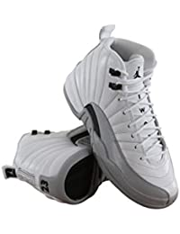 Air Jordan 12 Retro GG Basketball Sneaker White/Gray, Color White, EU Shoe