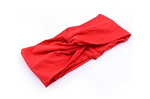 [Rush Dance Runner's Sports Fashion Yoga Hippie Multi Style Performance Headband (One Piece, Red)] (Bond Girl Fancy Dress Costumes)