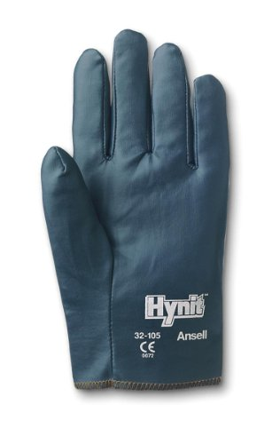 Ansell Hynit 32-105 Nitrile Glove, Slip-on Cuff, Large, Size 9 (Pack of -