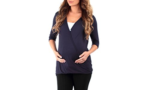 Tunic Bee (Mother Bee Women's Criss Cross Maternity and Nursing Wrap Tunic by and Rags and Couture - Made in USA)