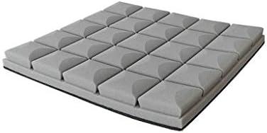 10ピース多目的カラー音響パネル、寝室の吸音吸音断熱寝室簡単インストール自己接着吸音綿 (Color : Gray)