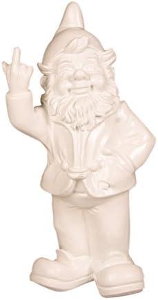Stoobz Figura Enanito de jardín con Corte de Mangas – para casa y jardín – Blanco – 15 x 12 x 32 cm: Amazon.es: Jardín