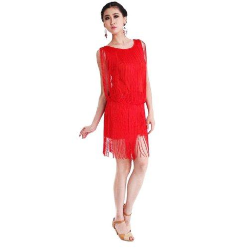 Rojo para Eyekepper mujer Noche Vestido qITwzZv