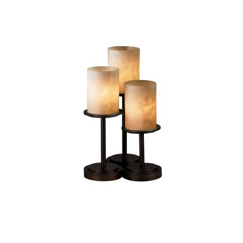 Justice Design Group CLD-8797 Dakota 3 Light Table Lamp with Resin Shades from t, Dark -