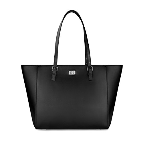 Bolso Para Mujer De Compras Bolso Retro De Moda Bolso Grande Señoras Conmutar Maletín De Trabajo De Negocios Black