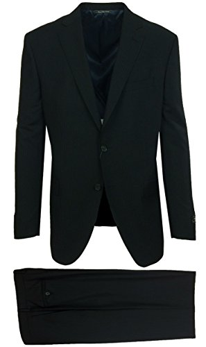 Jack Victor Men's Gibson Regular Fit Black Shadow Stripe Suit - Jack Victor Stripe Suit