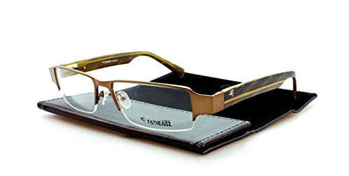 Fatheadz Aspect XL Mens Brown Semi Rimless Eyeglasses (Brown, - Large Extra Eyeglass Frames