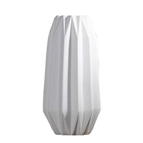 14.1cm6.5cm29.7cm YULAN Origami Vase en Céramique Blanc Décoration Frais Nordic Lumière De Américain Créatif De Mode Insertion à Sec Au Sol Plancher Salon Chambre étude Porche Armoire à Vin Maison