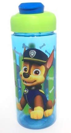 Zak Designs Paw Patrol Chase, Marshall & Rubble 16.5oz Sullivan Bottle Blue Water Bottle Nick Jr. ()