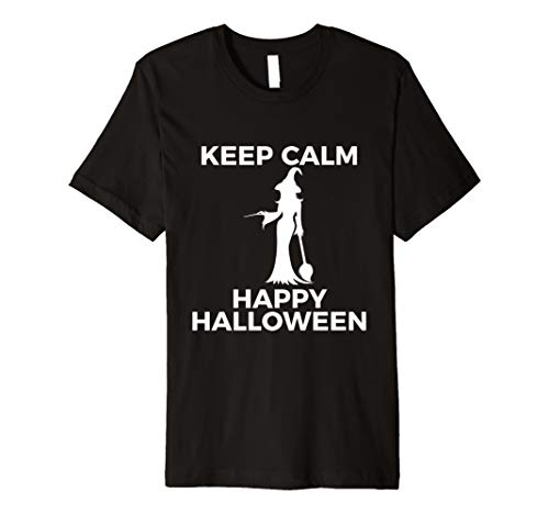 Spectacular Cute Witch Keep Calm Happy Halloween Tshirt
