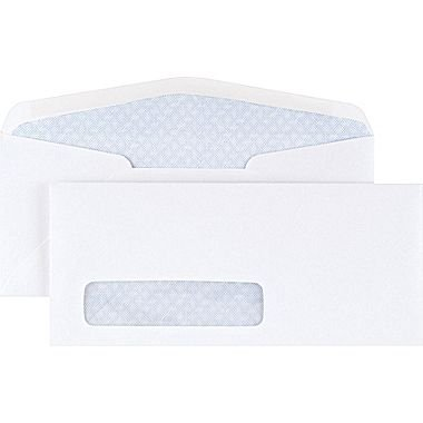 (CASHIER DEPOT YOUR ONE STOP SHOP FOR ALL CASHIER'S NEEDS No. 9 Business Envelopes with Left Window, (3 7/8 x 8 7/8), Security Tinted, Gum Flap, 24lb White, 500 per Box. Item#GF9LWT)