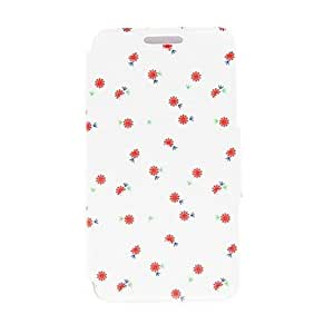 LZX Kinston Little Flower Romantic Pattern PU Leather Full Body Case with Stand for Samsung Galaxy S4 I9500
