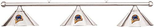 Imperial NBA Golden State Warriors Chrome Shade & Chrome Bar Billiard Pool Table Light (Warriors Pool Golden State)